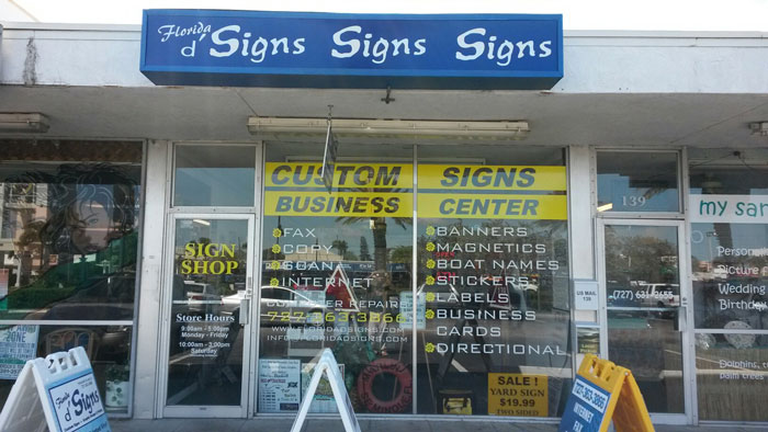 Florida d' Signs in Treasure Island & St. Petersburg Florida